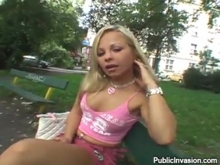 Публичное вторжение - Загнул раком первую встречную девку на улице за бешеные ба