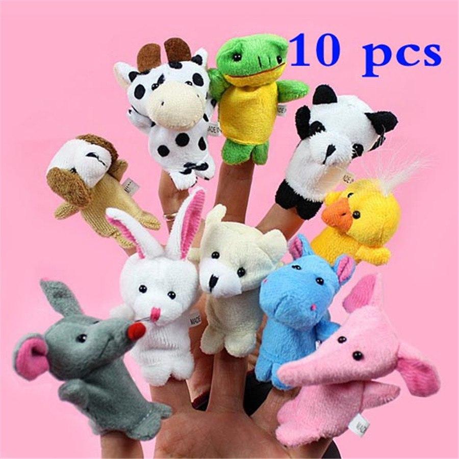 Плюшевые мини-игрушки на пальцы