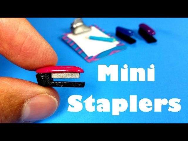 DIY Miniature Doll Staplers - Dollhouse DIY