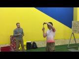 Мастер класс по метанию ножей от Сергея Федосенко в клубе