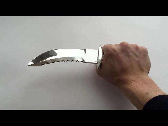 Нож Зубр из стали ХВ6 (Алмазная сталь)