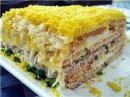 САМЫЙ ПОПУЛЯРНЫЙ САЛАТ ТОРТ НЕПТУН Обалденный слоеный салат на Праздничный стол Рецепты салатов