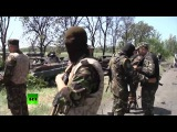 22 мая 2014. Волноваха. В Донецкой области уничтожен блокпост украинских силовиков (18+)