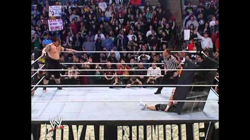 WWE Royal Rumble 2007 John Cena vs. Umaga - WWE Championship 2 4 - YouTube.flv