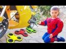 Bad Baby FREAKY JOKER Crushed FIDGET SPINNER Spiderman Hulk McDONALDS ДЖОКЕР РАЗДАВИЛ ФИДЖЕТ СПИННЕР