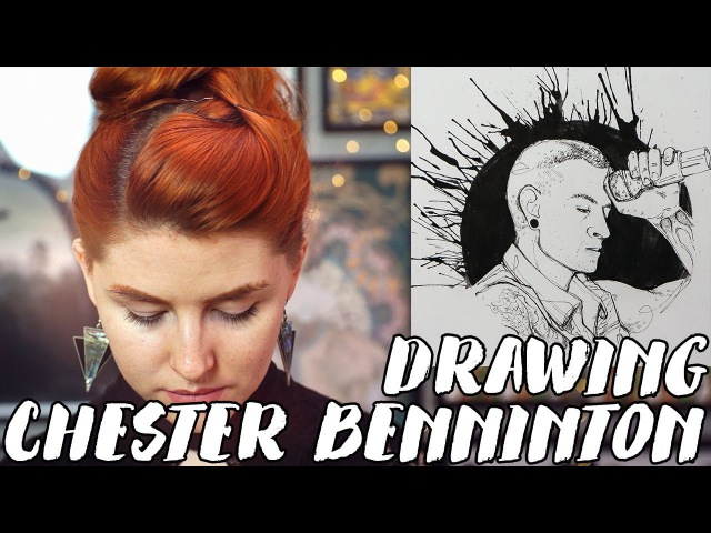 A Tribute to Linkin Parks Chester Bennington Rad Art with Beth Be Rad | SNARLED
