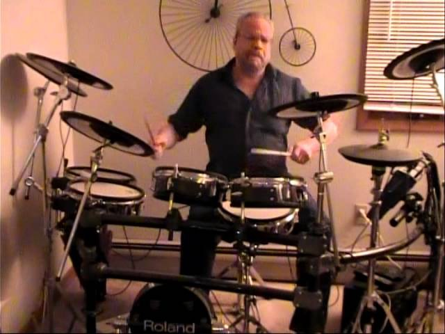 Somebody to Love Jefferson Airplane Drum Cover Ed Molloy Roland TDW-20