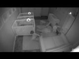 baby twins fake sleep