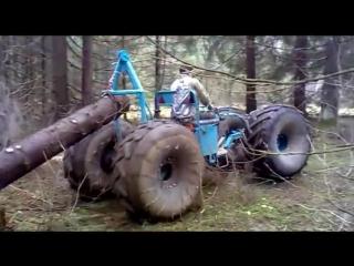 Мотоблок МТЗ-05.  Трелёвочник. Walking tractor MTZ-05. Trellevochnik.