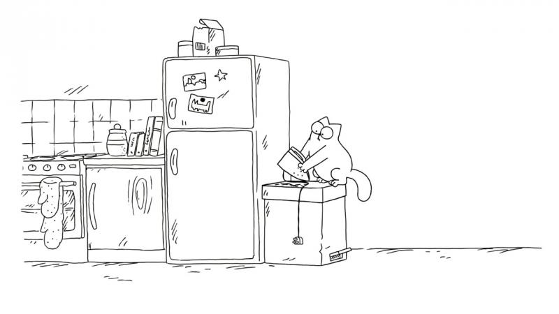 Кот Саймона / Simon's Cat - 56 серия (Trash Cat / Мусорный кот)