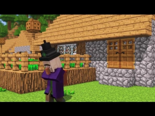 Villager  Witch Life 5 - Alien Being Minecraft Animation