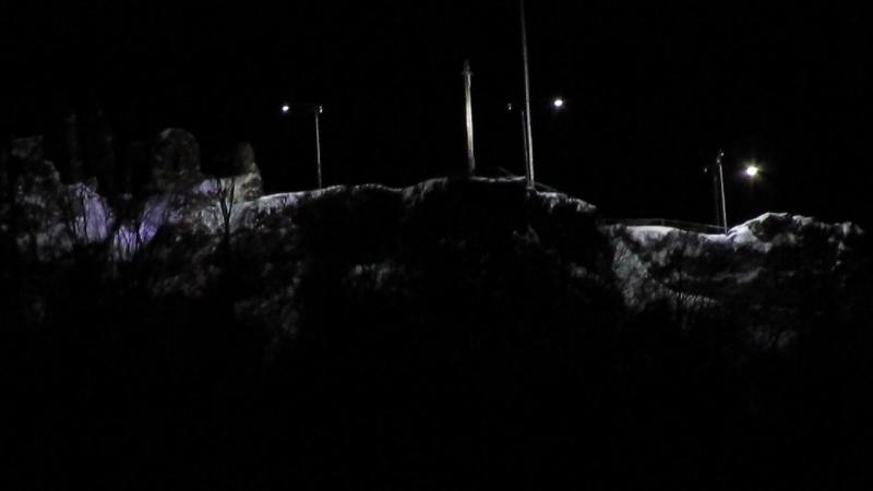 Хустський замок на рiздво 2017 рiк 2 ч