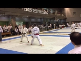16th JKA All Japan Masters Chamoionship 05.11.2016 Men's Kumite 60-year old Semi-Finals