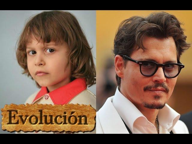 Como Johnny Depp ha cambiado - Evolución de 6 a 53 años.