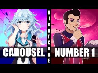 ♪ Nightcore - Carousel / We Are Number One (Switching Vocals)