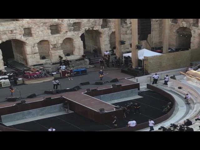 Foo Fighters - The Sky Is A Neighborhood (Soundcheck) Odeio Herodou Attikou, Athens 7/10/2017
