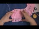 AlinaVjazet детское платье Pink charm крючком. Часть 2. Кокетка