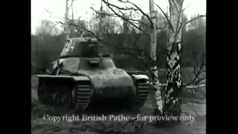 The French Hotchkiss H35 Light tank