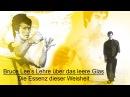 Bruce Lee's Lehre über das leere Glas die Essenz dieser Weisheit