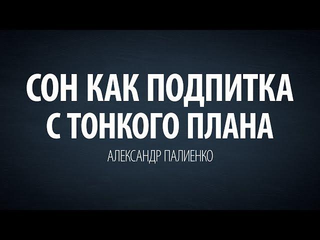 Сон как подпитка с тонкого плана. Александр Палиенко.