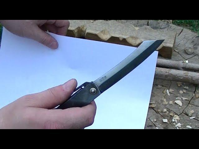 Нож HIGONOKAMI HKI-100BL тесты, а он многое может.