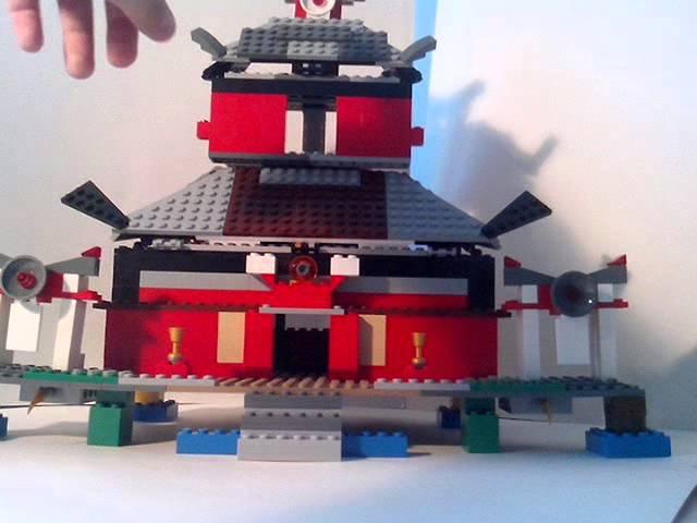 Самоделка лего ниндзя-го храм огня
