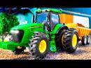 Видео для детей - Трактор и Грузовик Строительная Техника - Мультики Машинки