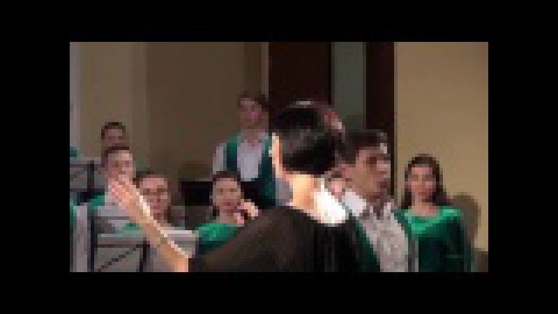 Baltarusijos muzikos akademijos studentų choro koncerto fragmentai