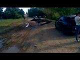 В Саратовской области к приезду губернатора заасфальтировали грязь