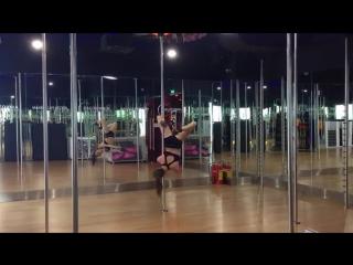 Pole Dance move_ Brass Monkey, Eros (beginners) _ Брасс Манки, Эрос