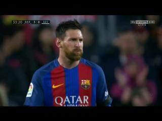 Барселона 3-0 Севилья  Месси дубль