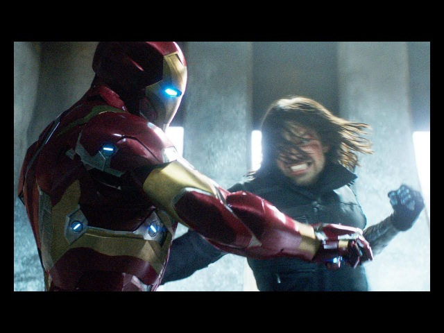 Баки Барнс и Стив Роджерс против Железного Человека - Первый мститель: Противос ...