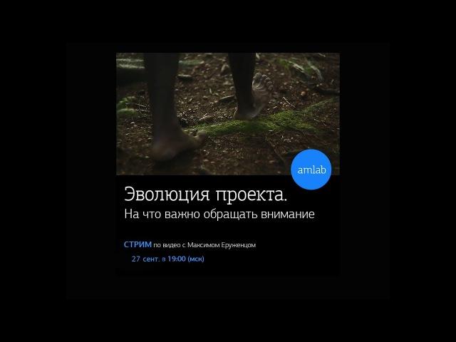 Стрим по видео с Максимом Еруженцом на Amlab.me Эволюция проекта на Amlab.me