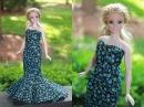 Одежда для куклы Барби. Как сшить Платье. / Clothes for Curvy Barbie Doll. How to make Dress.