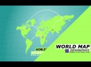 AFTER EFFECTS TUTORIAL : World Map infographics animation | Map animation in after effects
