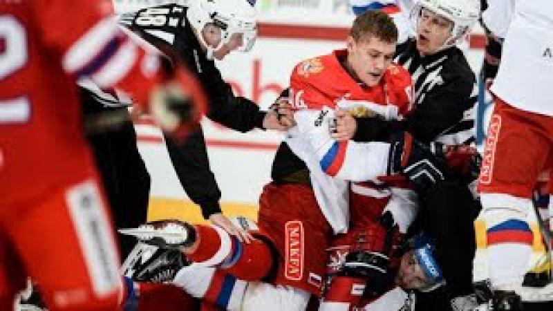 Обзор голов Россия - Чехия Драка хоккейный матч на Кубке «Карьялы»