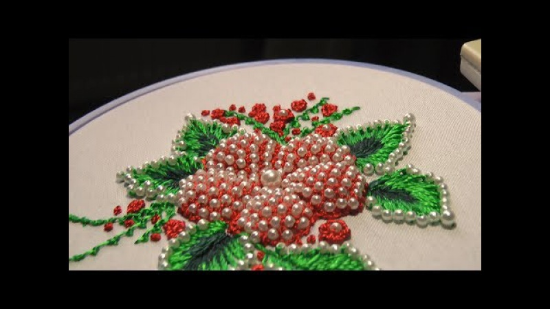 ЦВЕТЫ ПУФЫ с бисером\PUFFED FLOWER With beads
