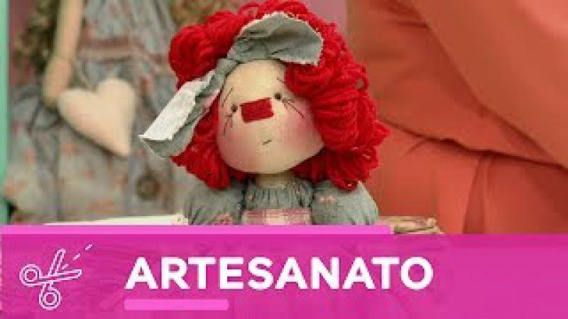 Kombina   Millyta Vergara ensina fazer uma boneca de pano! - 10 de Junho de 2017