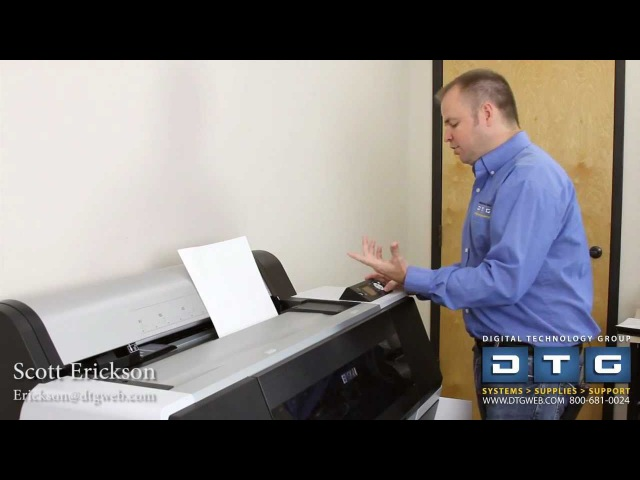 Setup and installation of the Epson Stylus Pro 7700 part 2