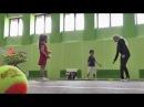Большой теннис Подача Часть 2 Практика Видеоурок