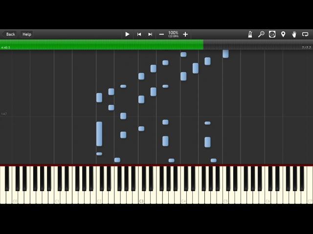 Piano Life 1 - Beautiful Emotional Improvisation (by Hugo Favier) - Piano tutorial (Synthesia)