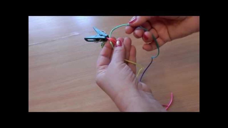 Как сделать браслет из тесьмы шнура плетение шамбала паракорд кобра