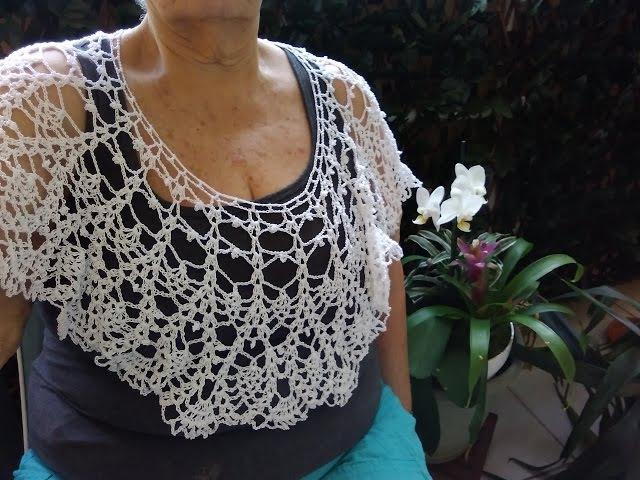 Primaveral y sencillo cuello de encaje a crochet. 1 de 2 videos.