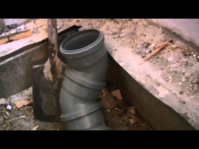 Как проложить канализационную трубу уклоны и изгибы канализация своими руками