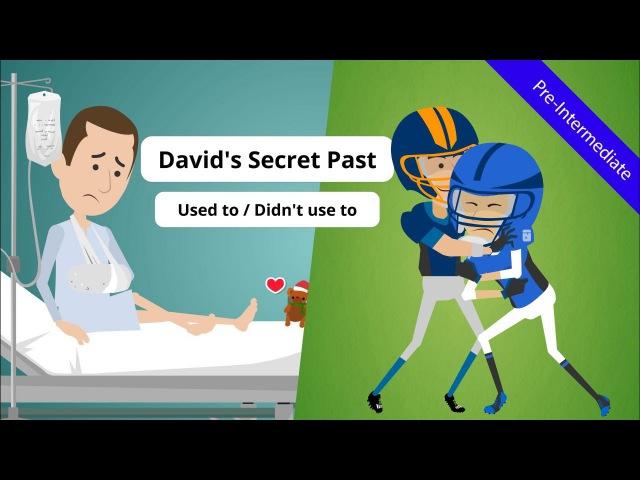 Used to (Grammar): David's Secret Past (Unravel David's past find hidden Easter eggs - ESL Video)