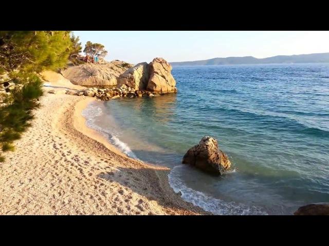 Брела в Июне Пляжи Якируша и Ярдула Brela in June Jardula and Jakirusa Beach at Brela Kroatien