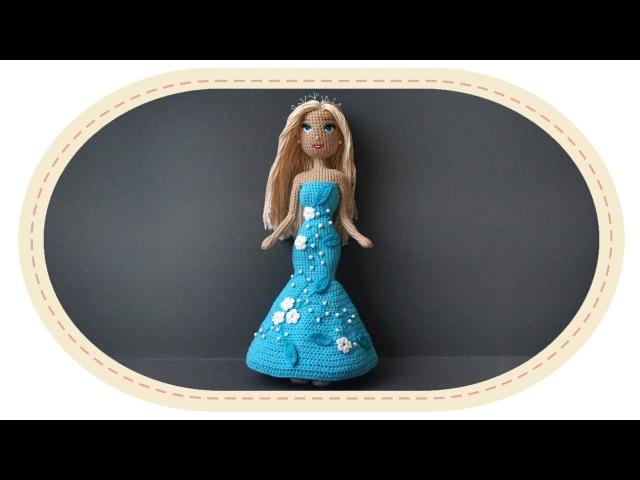 Оформление каркасной куклы. Decoration of crochet doll.