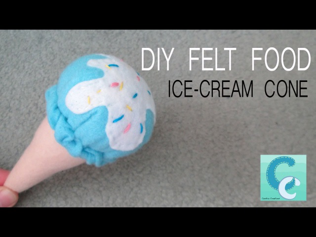 DIY Felt Food Ice Cream Cone