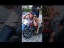 Biker Puppeteer - Girl taking selfie with rocker puppet - The original video
