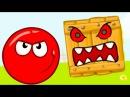 КРАСНЫЙ ШАР или RED BALL 4 против ЧЕРНОГО ЗЛОГО квадрата приключения героя мульт для...